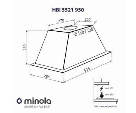 Вытяжка Minola HBI 5521 I 950