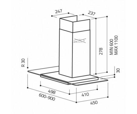 Вытяжка Elica FLAT GLASS IX A/60