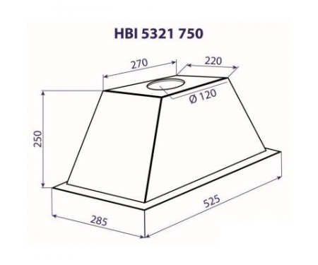 Вытяжка Minola HBI 5321 BL 750