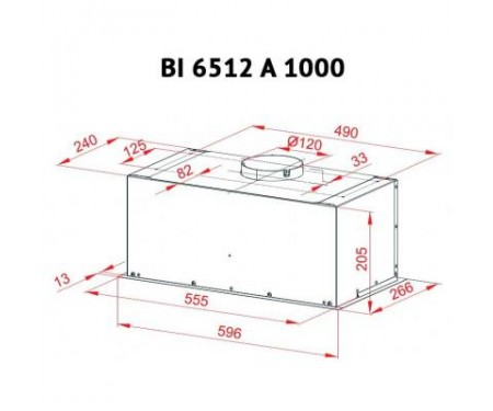 Вытяжка Perfelli BI 6512 A 1000 W LED