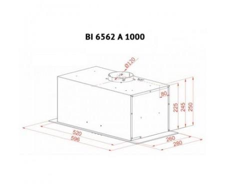 Вытяжка Perfelli BI 6562 A 1000 GF LED GLASS