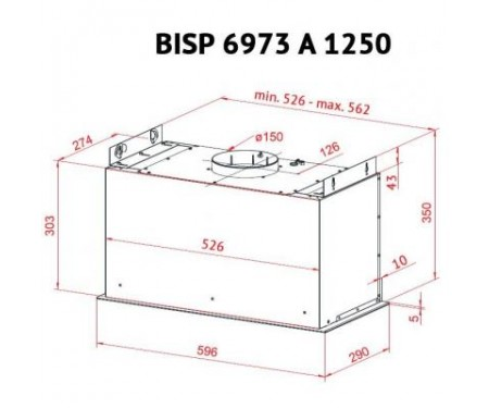 Вытяжка Perfelli BISP 6973 A 1250 GF LED Strip