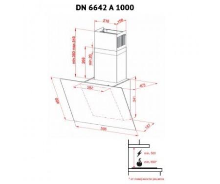 Вытяжка Perfelli DN 6642 A 1000 IV LED