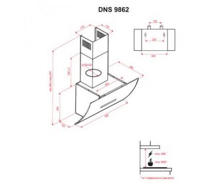 Вытяжка Perfelli DNS 9862 W LED