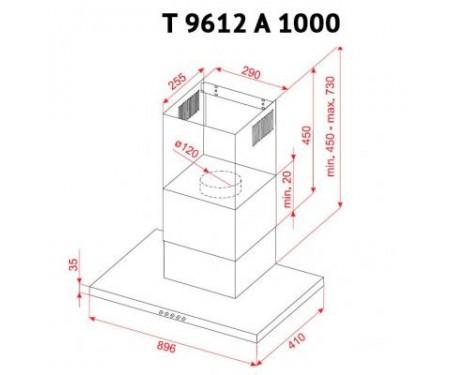 Вытяжка Perfelli T 9612 A 1000 W LED