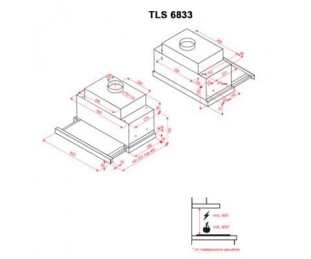 Вытяжка Perfelli TLS 6833 BL LED STRIPE