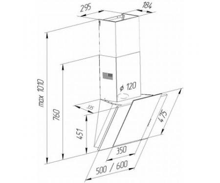 Вытяжка Pyramida NR-MV 50 M BL
