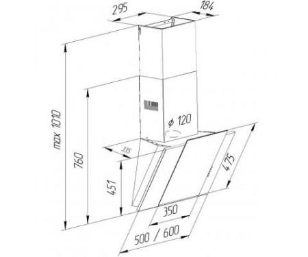 Вытяжка Pyramida NR-MV 60 M IX