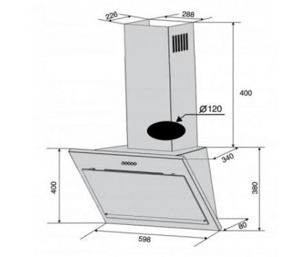 Вытяжка Ventolux FIORE 50 BK (750) PB