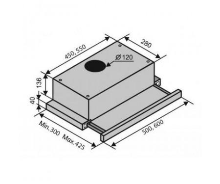 Вытяжка Ventolux GARDA 60 Inox (650) IT