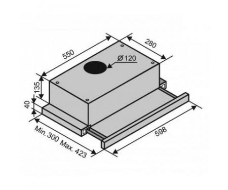 Вытяжка Ventolux GARDA 60 Inox (650) IT H