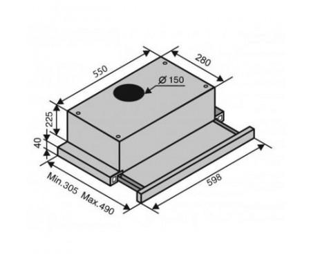 Вытяжка Ventolux GARDA 60 IVG (650) IT H