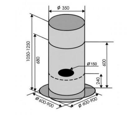 Вытяжка Ventolux ISOLA CILINDRO 60 (1200) GL