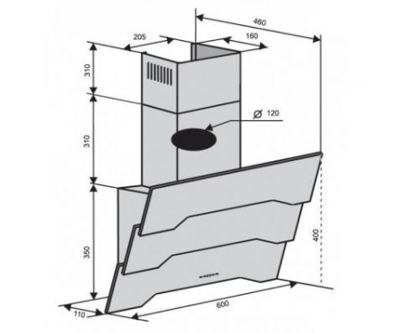 Вытяжка Ventolux PIEMONTE 60 WH (750) TRC SD