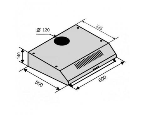 Вытяжка Ventolux ROMA 60 Inox 2M LUX
