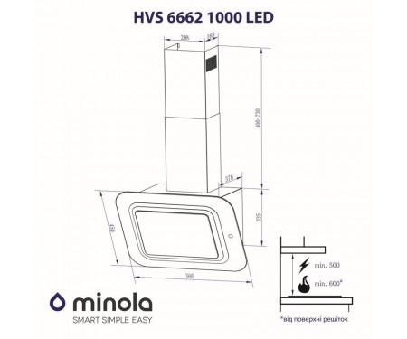 Вытяжка Minola HVS 6662 BL/I 1000 LED