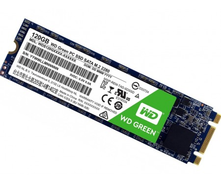 SSD накопитель WD SSD Green M.2 120 GB (WDS120G2G0B)