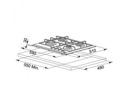 Варочная поверхность Franke FHM 604 3G TC WH E (106.0155.413)