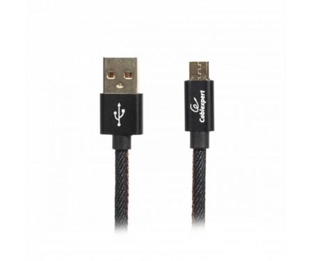 Кабель Cablexpert (CCPB-M-USB-04BK) USB 2.0 A - microB, премиум, 1м, черный