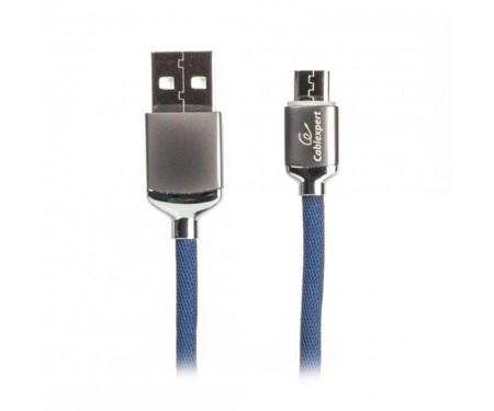 Кабель Cablexpert (CCPB-M-USB-07B) USB 2.0 A - microUSB B, премиум, 1м, синий
