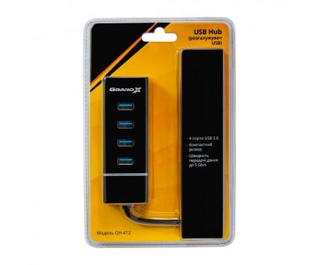 Концентратор Grand-X Travel 4 ports USB3.0 (GH-412)