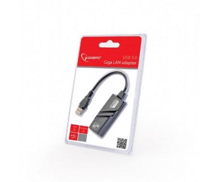 Сетевой адаптер Gembird (NIC-U3-02) USB - Fast Ethernet, черный