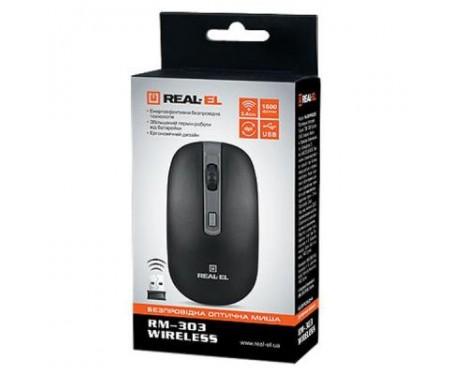 Мышь REAL-EL RM-301 black