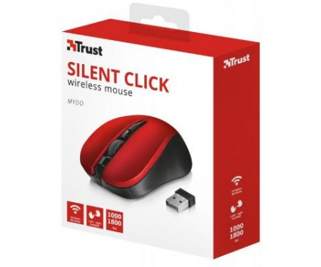Мышь Trust Mydo Silent wireless mouse red (21871)