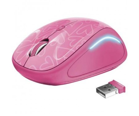 Мышь Trust Yvi FX wireless mouse pink (22336)