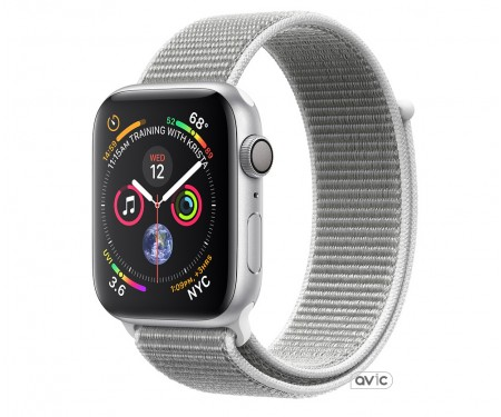 Apple Watch Series 4 (GPS) 40mm Silver Aluminum Case with Seashell Sport Loop (MU652)