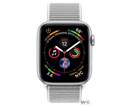 Apple Watch Series 4 (GPS) 40mm Silver Aluminum Case with Seashell Sport Loop