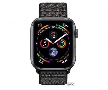 Apple Watch Series 4 (GPS) 44mm Space Gray Aluminum Case with Black Sport Loop (MU6E2)