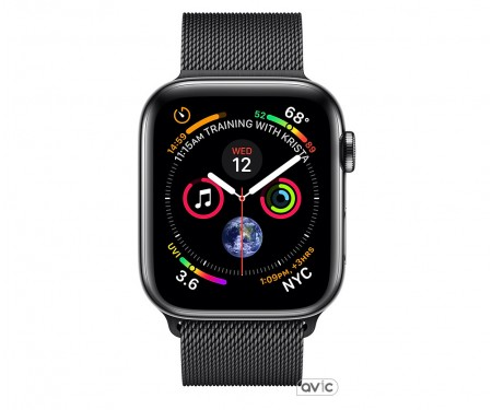 Apple Watch Series 4 (GPS + Cellular) 40mm Space Black Stainless Steel Case with Space Black Milanese Loop (MTUQ2)