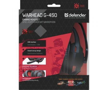 Наушники Defender Warhead G-450 USB (64146)