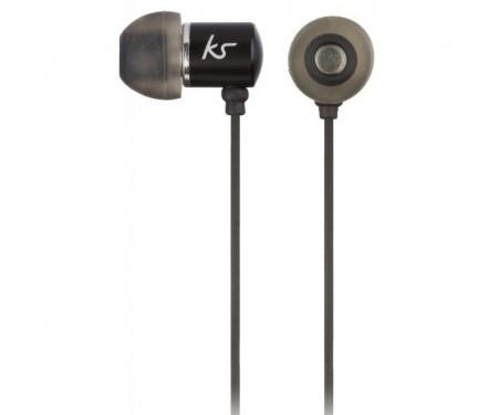 Наушники KitSound KS Ace In-Ear Headphones with mic Black (KSACEMBK)