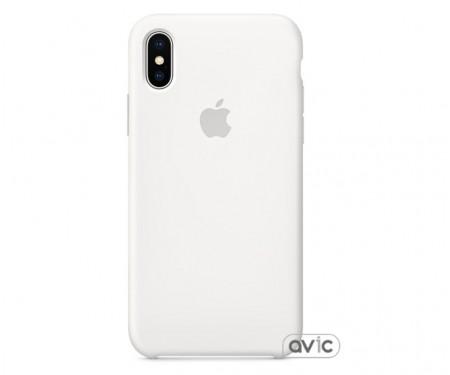 Чехол для смартфона Apple iPhone X Silicone Case-White