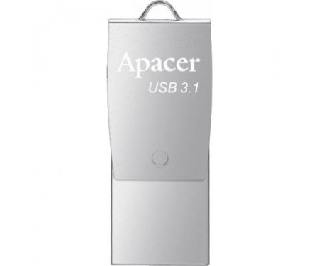 Флешка Apacer 16GB AH750 Silver USB 3.1 OTG (AP16GAH750S-1)