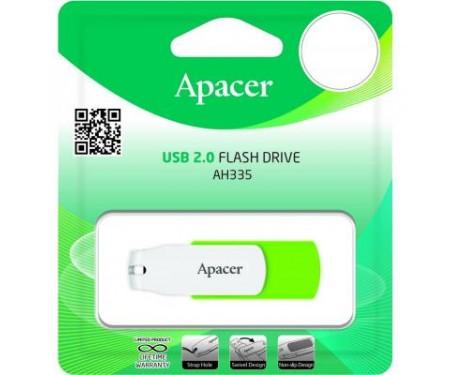 Флешка Apacer 64GB AH335 Green USB 2.0 (AP64GAH335G-1)