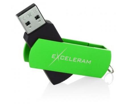Флешка eXceleram 16GB P2 Series Green/Black USB 2.0 (EXP2U2GRB16)
