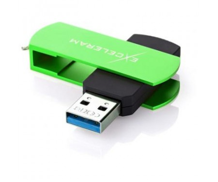 Флешка eXceleram 16GB P2 Series Green/Black USB 3.1 Gen 1 (EXP2U3GRB16)