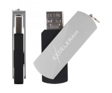 Флешка eXceleram 16GB P2 Series Silver/Black USB 3.1 Gen 1 (EXP2U3SIB16)