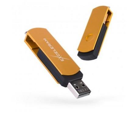 Флешка eXceleram 32GB P2 Series Gold/Black USB 2.0 (EXP2U2GOB32)