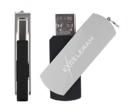 Флешка eXceleram 32GB P2 Series Silver/Black USB 3.1 Gen 1 (EXP2U3SIB32)