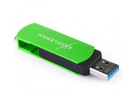 Флешка eXceleram 64GB P2 Series Green/Black USB 3.1 Gen 1 (EXP2U3GRB64)