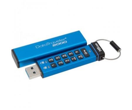 Флешка Kingston 16GB DT 2000 Metal Security USB 3.0 (DT2000/16GB)