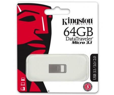 Флешка Kingston 64GB DataTraveler Micro USB 3.1 (DTMC3/64GB)