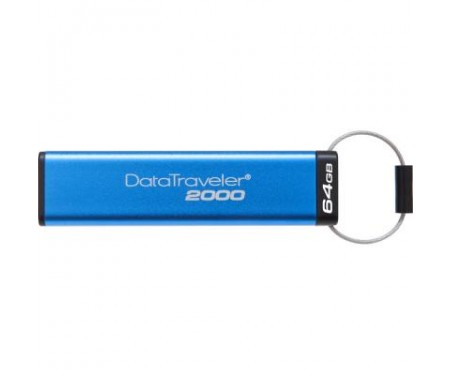 Флешка Kingston 64GB DT 2000 Metal Security USB 3.0 (DT2000/64GB)