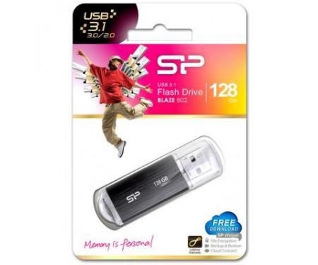 Флешка Silicon Power 128GB Blaze B02 Black USB 3.0 (SP128GBUF3B02V1K)