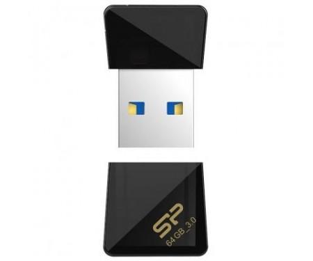 Флешка Silicon Power 64Gb Jewel J08 Black USB 3.0 (SP064GBUF3J08V1K)