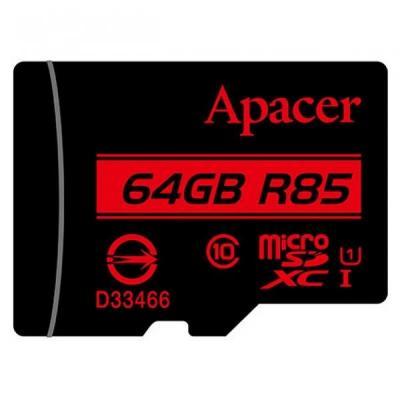 Карта памяти Apacer 64GB microSDXC class 10 UHS-I U1 (AP64GMCSX10U5-R)